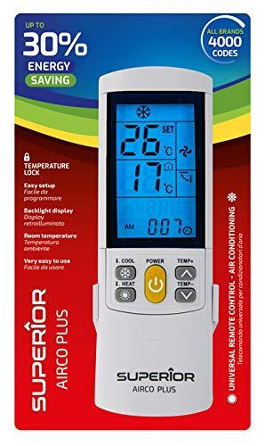 Universalfernbedienung, elegant und komplett, für Klimageräte - Funktioniert mit allen Herstellern von Klimaanlagen SAMSUNG MITSUBISHI DAEWOO HAIER PANASONIC TOSHIBA
