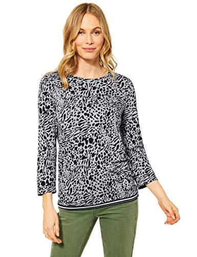 Cecil Damen 315924 T-Shirt, Mineral Grey Melange, XL