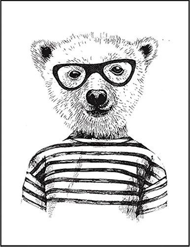 【FOX REPUBLIC】【オタクくま 熊】 白光沢紙(フレーム無し)A3サイズ