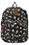 O'Neill Women's Basic Lightweight Canvas Backpack (Black/Blazin, ONE)