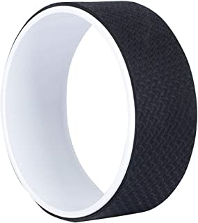 Fitness Circles Yoga Wheel Dharma Wheel Yoga Accessories Back Bend Waist Yoga Wheel Beginner Yoga Supplies Slimming Aid Pilates Ring Weight 150KG (Color : Black)