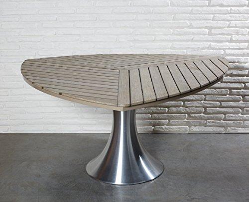 Wholesaler GmbH Gartentisch Dreieckig Holz Polywood Esstisch Holztisch Gartenmöbel Set Tisch