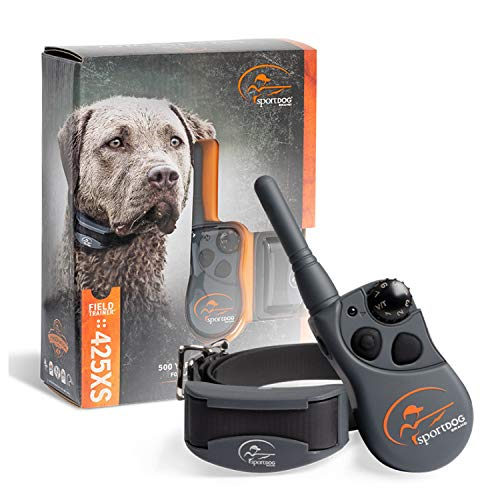 SportDOG Brand 425 Remote Trainers - 500 Yard Range E-Collar with Static, Vibrate and Tone - Waterproof, Rechargeable - Including New X-Series, Stubborn Dog E-Collar