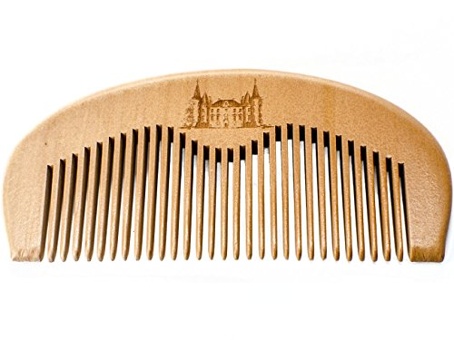 Maison Lambert Wooden Beard Comb - Wood Beard Comb - Wood Comb - Beard Comb - Peach Wood Comb