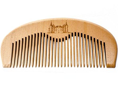 Maison Lambert Wooden Beard Comb - Wood Beard Comb - Wood Comb - Beard Comb - Peach Wood Comb