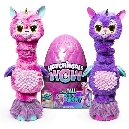 Hatchimals - Wow Llalacorn - 32-Inch Tall Interactive Hatchimal with Re-Hatchable Egg and +250 Sounds & Interactions (Styles May Vary)...