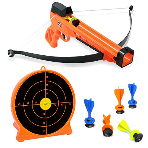 ArmoGear Kids Archery Set with Bow and Arrows | Safe & Sturdy Blaster Bow, 6 Suction Darts & Stand-Up Target | Great Shooting Game for Boys and Girls 8 to 12 Year Olds | Fun for Kids and Adults