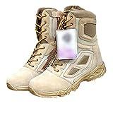 Botas tácticas de invierno de los hombres del desierto ejército zapatos motocicleta transpirable militar asalto combate y tobillo botas, Arenoso, 42 EU