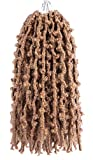 Butterfly Locs Crochet Hair Color #27 14 Inch 6 Packs Pre-Looped Distressed Faux Locs Crochet Braids (14 Inch,27)
