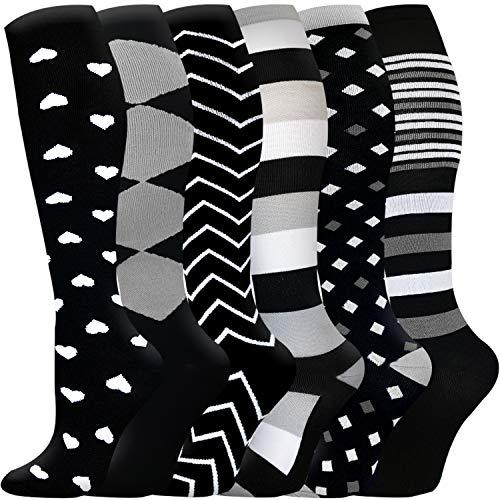 Compression Socks for Women & Men-Best for Running, Nurse,Travel,Cycling,Varicose Veins,Maternity,Pregnant,Flight Socks