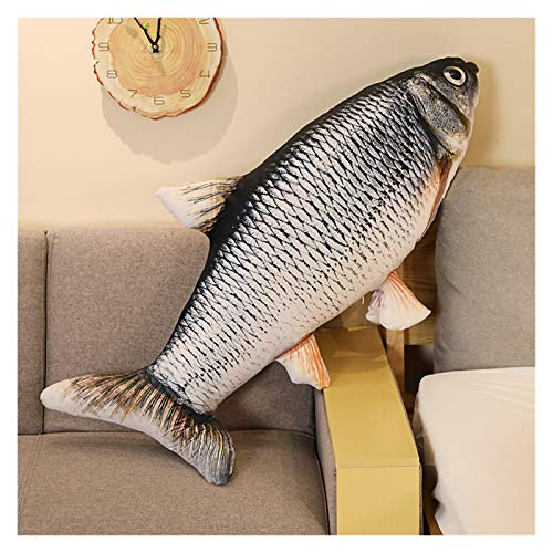 Peluche 1 unid 30-120 cm 3D simulación de oro pez de oro peluche de peluche de peluche suave animal carpa pelusa almohada creativo sofá cojín cojín regalo juguete juguete ( Farbe : 1 , Höhe : 40cm )