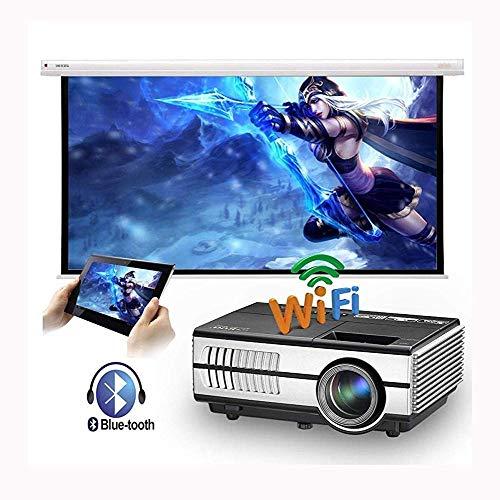 Mini Beamer,Projector Hd,Projector WiFi Bluetooth-Projektor UnterstüTzt 1080p 50.000 Stunden Tragbare Android Videoprojektor UnterstüTzung Airplay/Miracast/Dlna/YouTube/Kodi/Hulu Lifesp
