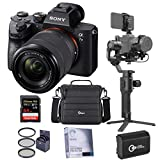 Sony Alpha a7 III 24MP UHD 4K Mirrorless Camera with FE 28-70mm Lens - Bundle with DJI Ronin-SC Gimbal Stabilizer Pro Combo, 64GB SDXC Card, Camera Case, Battery, Screen Protector, 55mm Filter Kit