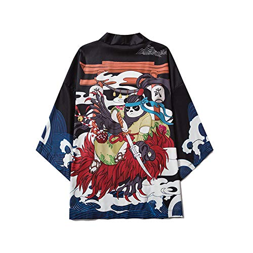 Japanische Art Dragon Kimono Streetwear Männer Frauen Cardigan Japan Harajuku Yukata Robe Traditionelle Kleidung Summer-10_M