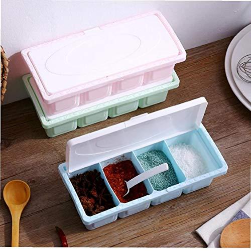1pc Plastica Contenitori delle Spezie, Aromi E Spezie Portaspezie Pentole Box di Stoccaggio Condimento Contenitore Jar Kitchen Tool (Colore Casuale)