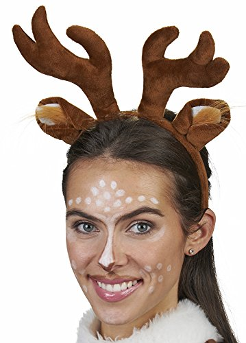 Haarreif zum REH oder Rentier Kostüm - Tolles Accessoire für Weihnachtsfeier, Heiligabend oder Weihnachtsmarkt