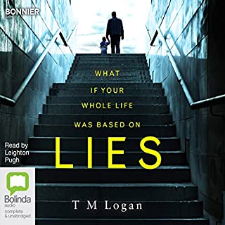 Lies                   By:                                                                                                                                 T. M. Logan                               Narrated by:                                                                                                                                 Leighton Pugh                      Length: 10 hrs and 45 mins     1,455 ratings     Overall 4.1