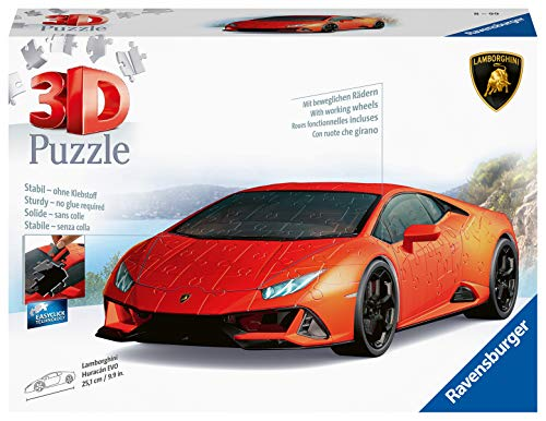 Ravensburger 11238 Lamborghini Huracan 108 Piece 3D Jigsaw Puzzle for Kids Age 8 Years and up
