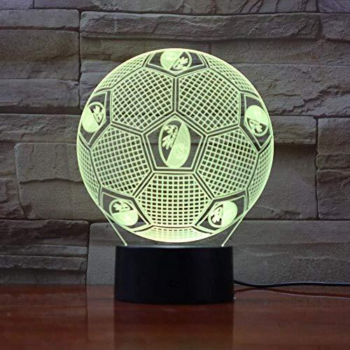 3D Slideshowgifts Gitaar Real Madrid voetbal 3D visueel licht kleurrijk touch gesegmenteerde decoratieve tafellamp LED alternatief nachtlampje @ Cc-A