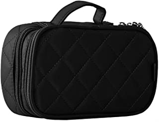 Hanging Cosmetic Bags Portable Travel Storage Organiser Nylon Make up Bag for Traveling and Home Use 1pc Black