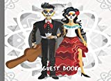 Guest Book: Day of the Dead Wedding Party Sign In Book