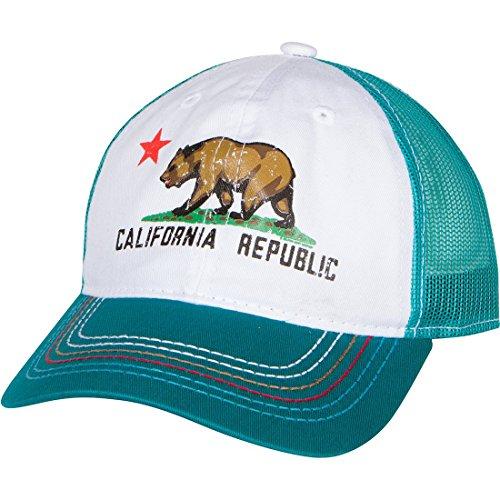 Dolphin Shirt Co California Republic Screen Print Trucker Hat - Teal