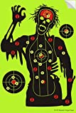 Shooting Targets 12 x18 inch Skeleton Target Paper - Shots Burst Bright Fluorescent Yellow Upon Impact Role Reactive - Guns Rifle Airsoft BB Gun Bow Arrow (10 Pack)