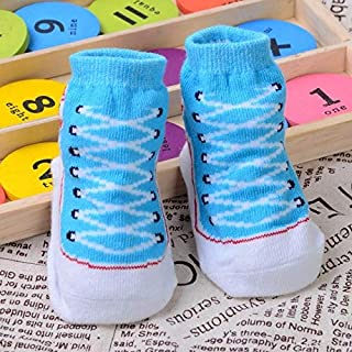 Socks 3 Pairs Baby Three-Dimensional Super Cute Children Shoes and Socks(Black) Outdoor & Sports (Color : Light Blue)