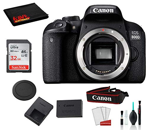Buy Bargain Canon EOS 800D (Rebel T7i) Body Only Kit with Accessory Bundle �SanDisk 32GB SD Card +...