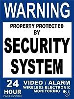 24時間監視 金属板ブリキ看板警告サイン注意サイン表示パネル情報サイン金属安全サイン
