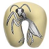 Almohada en Forma de U, Cuello, Mantis Negra, Viaje, Almohada Multifuncional, Coche, avión