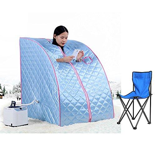 Vendeur Pro - Sauna portatile, macchina del vapore per sauna casalinga (80x 70x 98cm) con 10livelli di temperatura.