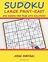 Sudoku Large Print - Easy - One Sudoku per Page with Solutions: 100 Sudoku Puzzles for Beginners