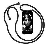 Funda con Cuerda para iPhone 5 / 5S / SE(2016), Carcasa Transparente TPU Suave Silicona Cover Case Cubierta con Colgante Ajustable Collar Correa de Cuello Cadena Cordón/Funda Colgante movil con Cuerda