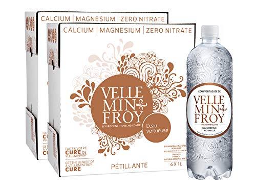 Velleminfroy Eau Minérale Naturelle Pétillante 2 cartons de 6 x 1 L