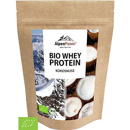 ALPENPOWER | BIO WHEY Protein Kokosnuss | Ohne Zusatzstoffe | 100{f1571bb2c5d3b53f2f81383ce9cf9797661cedfaf4d4d00f25611a10cabe412e} natürliche Zutaten | Bio-Milch aus Bayern und Österreich | Superfood Kokosnuss | Hochwertiges Eiweißpulver | 500g