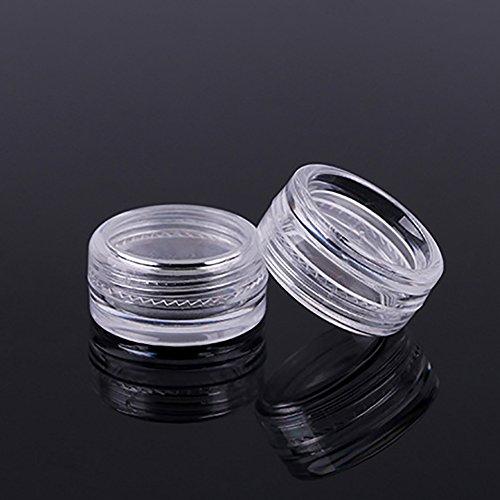 AchidistviQ 5 pcs Nail Art Plastique Transparent Poudre de Paillettes Clous Boîte de Rangement Coffret Vide