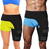 Hip Brace Thigh Compression Sleeve – Hamstring Compression Sleeve & Groin Compression Wr...