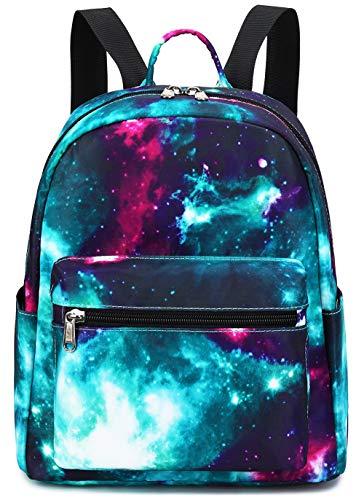 Mini Backpack Girls Galaxy Small Purse Backpacks for Teens Womens School Travel (Galaxy Green)