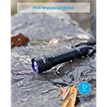 Anker Bolder UV Flashlight Rechargeable, 380nm Ultraviolet Blacklight Detector for Dog Urine, Pet Stains and Fluorescence, Pocket-Size LED Torch, IPX5 Water Resistant, 18650 Battery Included 13
