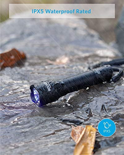 Anker Bolder UV Flashlight Rechargeable, 380nm Ultraviolet Blacklight Detector for Dog Urine, Pet Stains and Fluorescence, Pocket-Size LED Torch, IPX5 Water Resistant, 18650 Battery Included 6
