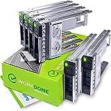 WORKDONE Paquete 6 - Unidad Disco Duro 3,5' con Adaptador HDD 2,5' - Compatible Servidores DELL PowerEdge 14-15 Gen. Seleccionados - Manual, Etiquetas Adhesivas, Destornillador, Robustos Tornillos
