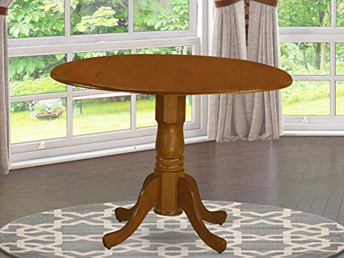 East West Furniture DLT-SBR-TP Dublin Drop-Leaf Table