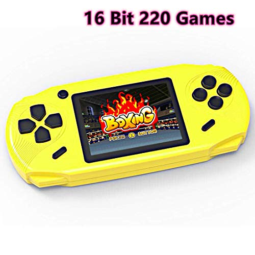 Bornkid 16 Bit Handheld Spielekonsole für Kinder und Erwachsene mit Integriertem 100 HD Videospiel 3,0 Zoll Seniors Electronic Handheld Spiele Jungen Mädchen Geburtstags Geschenk (Schwarz)