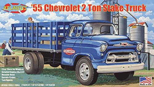 アトランティスモデル 1/48 1955 シボレー 2t ステークトラック クリアパーツ付 プラモデル ATLAMCH1401