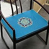 WJWJ Blue Chinesisch Sitzkissen, Mahagoni Möbel Massivholz Sitzkissen Stuhl Teestuhl Taishi Stuhl...