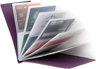 RFID Blocking Wallet - Leather Business Credit Card Holder Case/Wallet Insert Card Sleeves