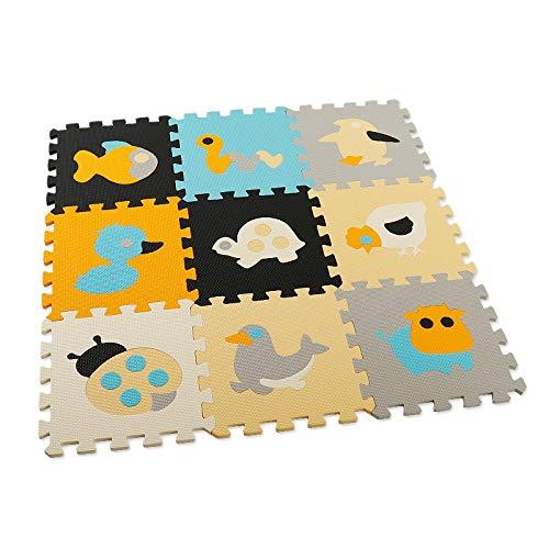 SODIAL 9 PièCes SéRies BéBé Puzzle Tapis de Bande DessinéE EVA Mousse Pad Interverrouillage Tapis Enfants Tapis Rampant Pad Activité Tapis de Sol