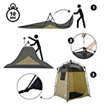 Lumaland Outdoor Pop Up Shower Tent Dressing Tent Privacy Toilet Tent Standing Height 2.05 m Changing Tent Shelter Sunshade Camping 155x155x220 cm 8
