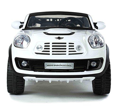 MINI Beachcomber licenza originale Mini, AUTO Elettrica per Bambini , 2 motori, a due posti, bianco